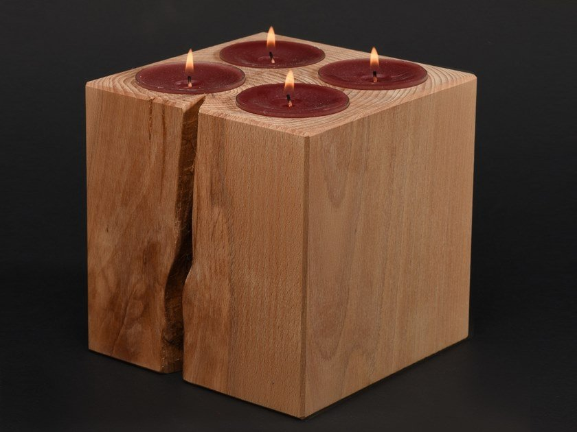Beech candle holder LUMINA by Nature Systems