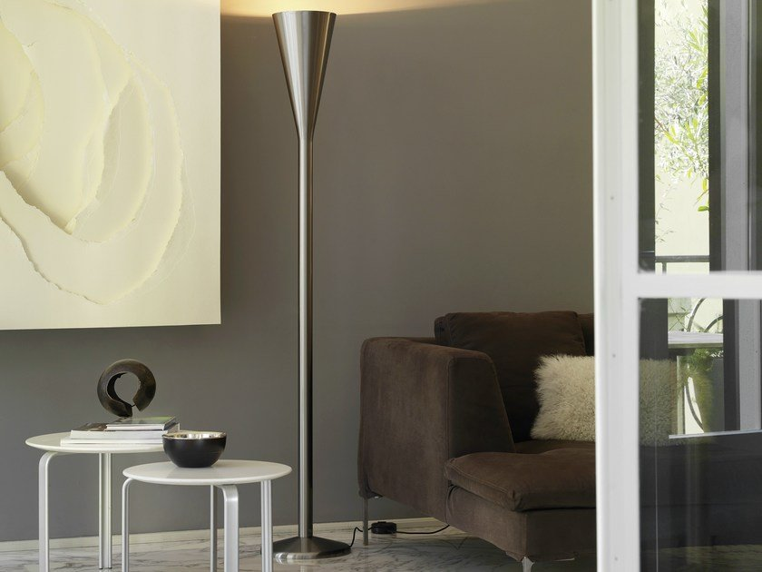 Indirect light floor lamp with dimmer LUMINATOR by FontanaArte