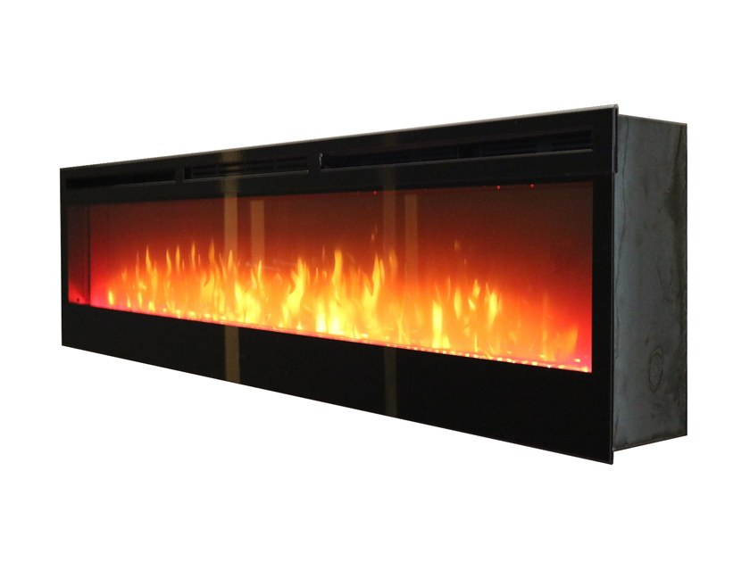 Electric built-in steel fireplace LUMINOUS 1800 by GlammFire