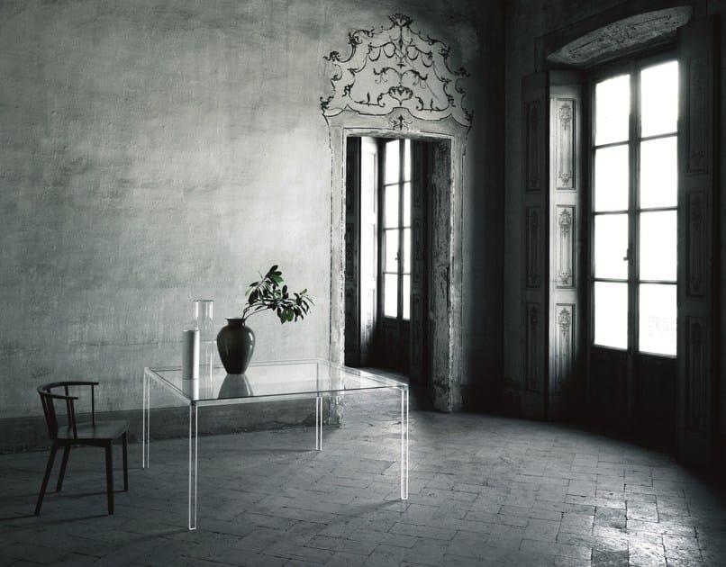 Luminous Italia Glas Quadrato Tavolo Cristallo In wikPTOuZX