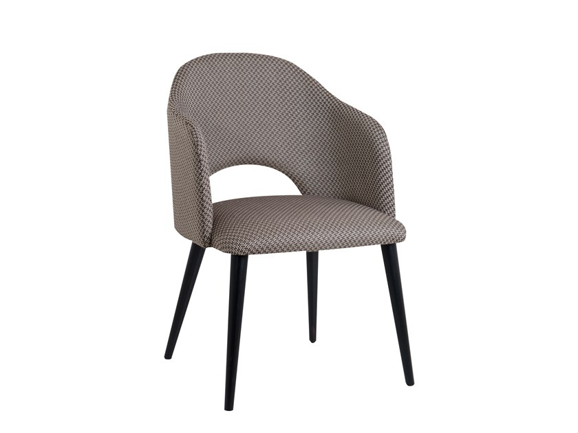 Fabric chair with armrests LUNA by Perrouin