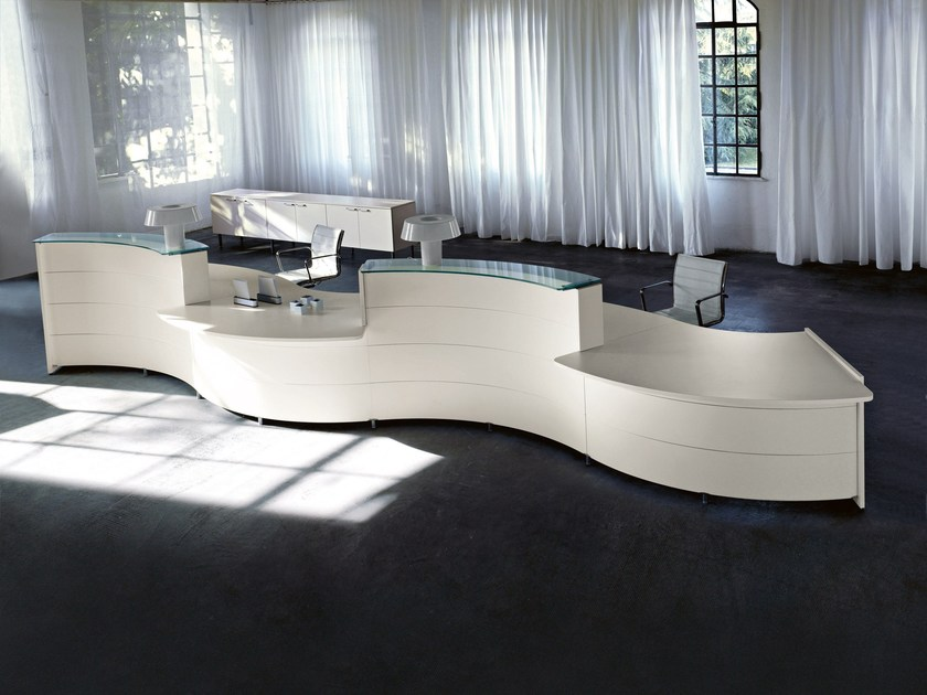 Office reception desk LUNA by Sinetica