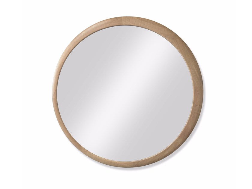 Round wall-mounted framed mirror LUNA by Wewood