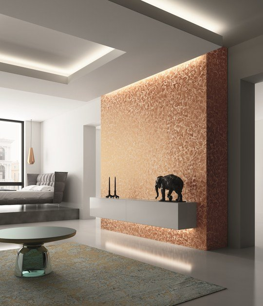 Water-based decorative painting finish with shimmer effect LUNANUOVA by San Marco