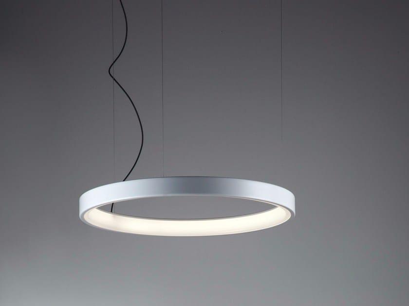 Lampada a sospensione in alluminio e metacrilato LUNAOP | Lampada a sospensione by Martinelli Luce