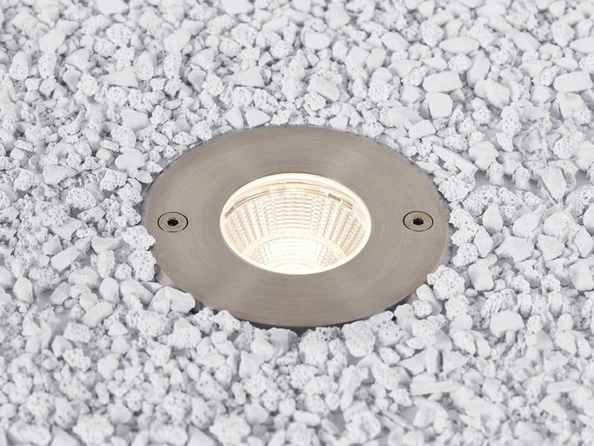 Segnapasso a LED in acciaio inox per esterni con dimmer LUNAR M by HER