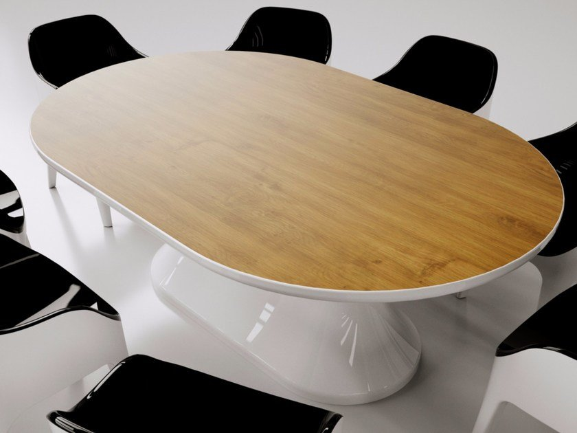 Tavolo da pranzo laccato ovale in Adamantx® LUNCH TABLE by ZAD ITALY