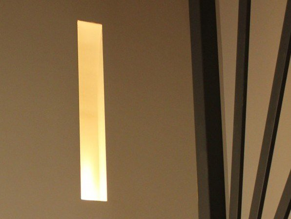 Recessed gypsum wall lamp LUPO by GESSO