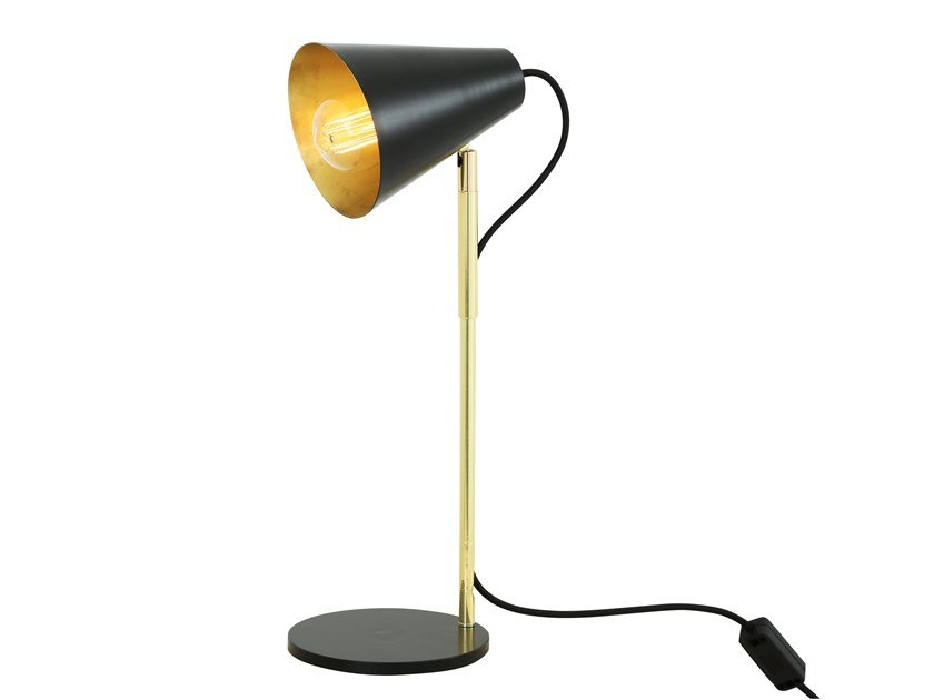 Contemporary style direct indirect light handmade led brass table lamp lusaka table lamp by mullan