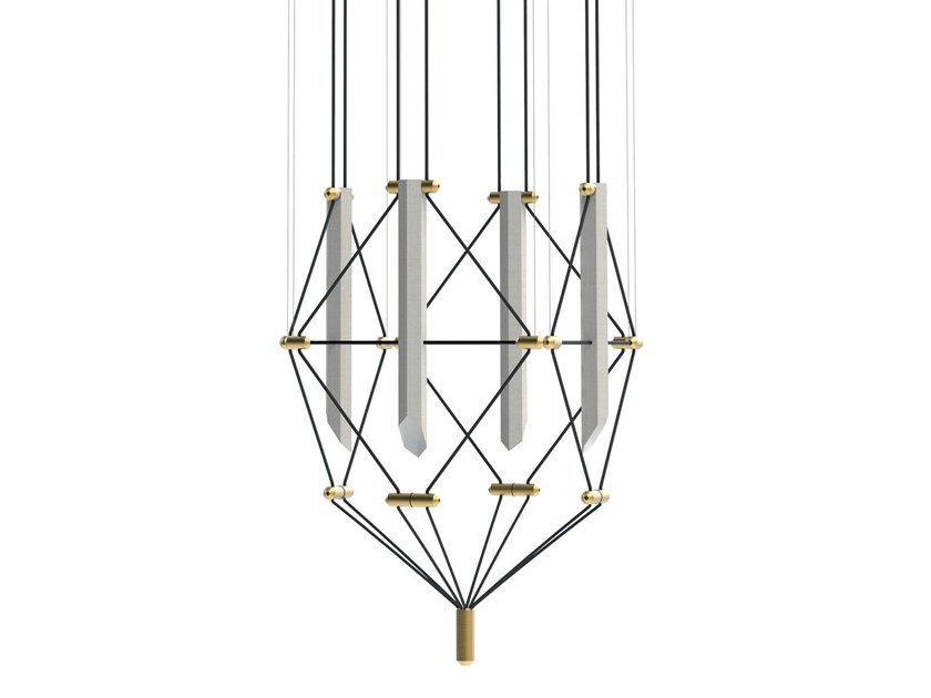 LED pendant lamp LUSTRE 4 MOZAIK by designheure