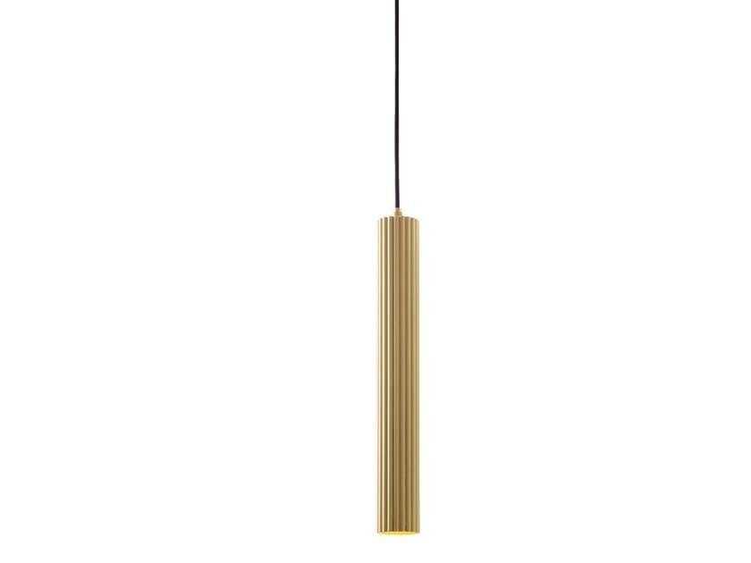 LED brass pendant lamp LUSTRIN LS01 by LUCE TU