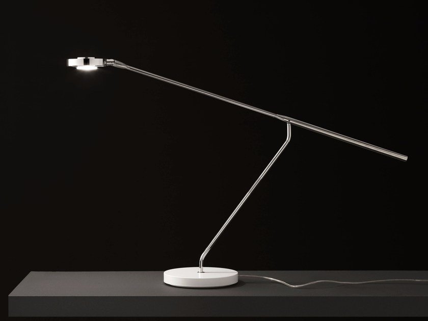 LED direct light adjustable table lamp LUTZ - 290 by Oluce