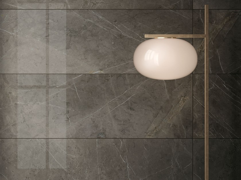 White-paste wall tiles with marble effect LUX EXPERIENCE WALL PIETRA GREY | Wall tiles by Impronta Ceramiche