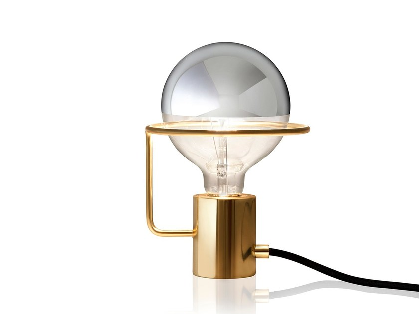 Brass table lamp LUX | Table lamp by Sollos