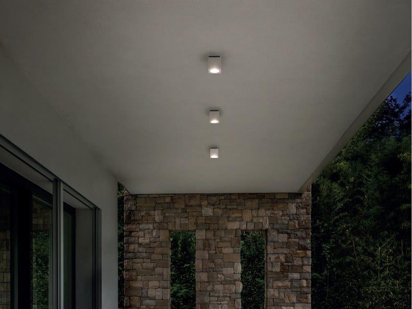 Plafoniera per esterno in alluminio lux shower goccia illuminazione