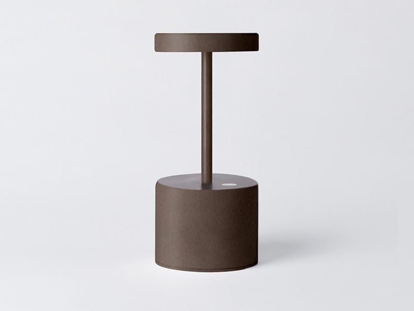 Lampada da tavolo a LED in alluminio senza fili LUXCIOLE MINI by HISLE