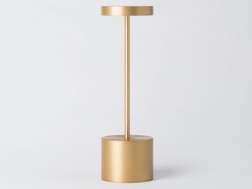Lampada da tavolo a LED in alluminio senza fili LUXCIOLE SMALL by HISLE