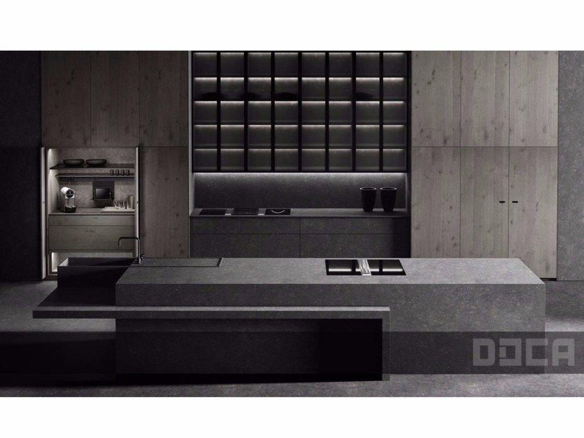 Kitchen with island LUXURY STONE ARGUS by Doca