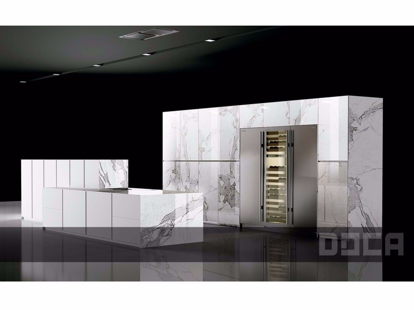 Porcelain stoneware kitchen with island LUXURY STONE CASSINI by Doca