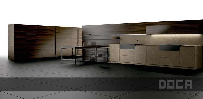 Cocina integral lineal LUXURY STONE ZOE NATUR By Doca