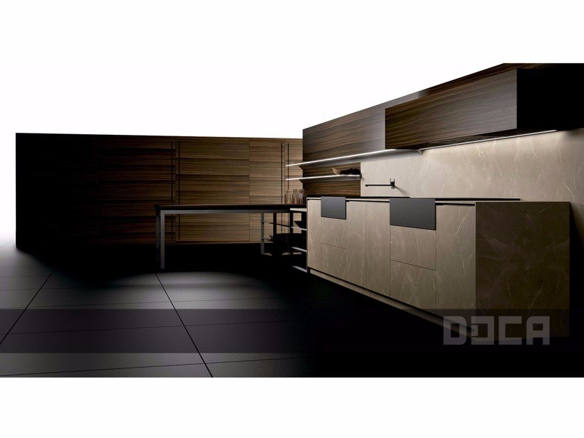 Linear fitted kitchen LUXURY STONE ZOE NATUR by Doca