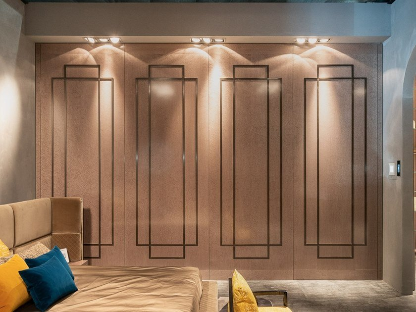 Flush-fitting solid wood safety door LUXURY by Ercole