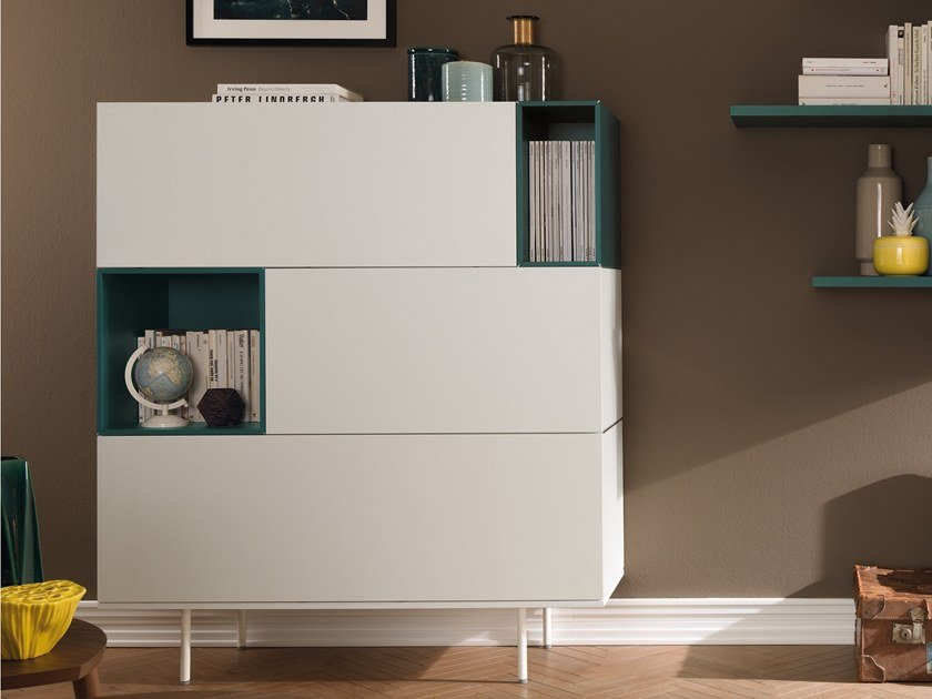 Lacquered highboard with drawers LV202 | Highboard by Moretti Compact