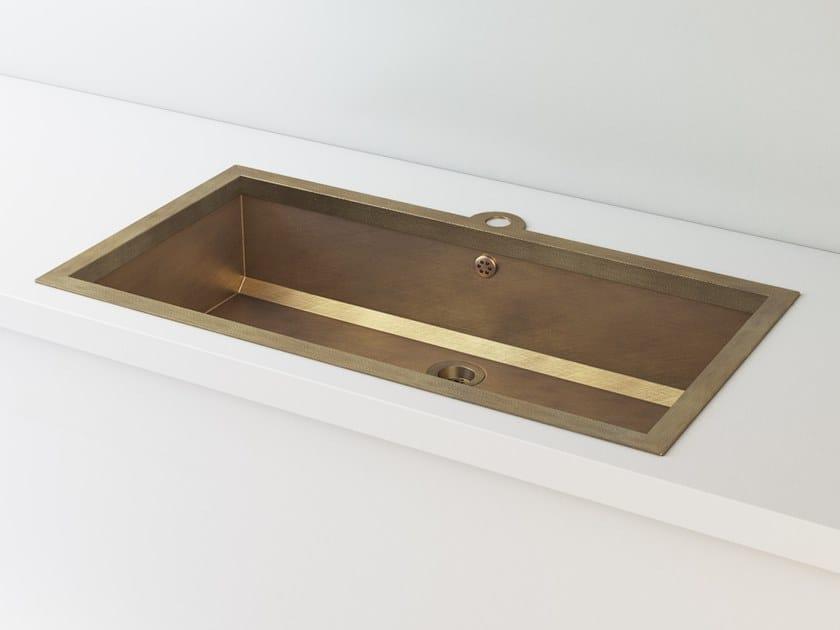 Lavello a una vasca da incasso in ottone LVQ022   Lavello ...