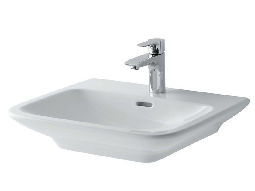Inset ceramic washbasin MH   Rectangular washbasin by TOTO