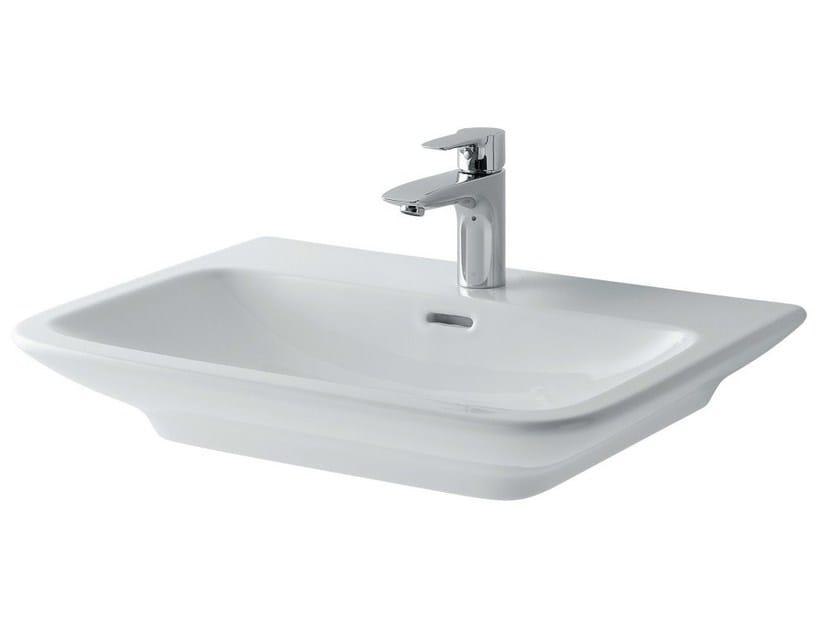 Inset ceramic washbasin MH | Rectangular washbasin by TOTO