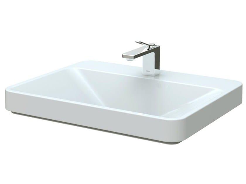 Inset ceramic washbasin SG | Rectangular washbasin by TOTO