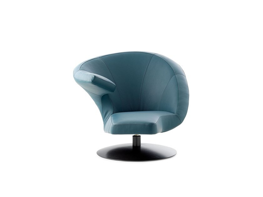 Swivel upholstered leather armchair LX320 | Armchair by LEOLUX LX