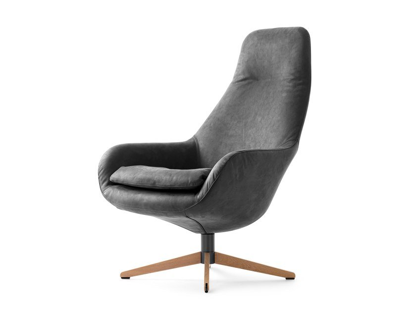 Swivel leather armchair LX389 | Leather armchair by LEOLUX LX