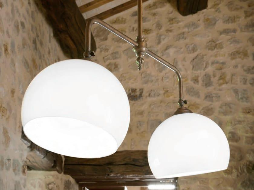 Glass pendant lamp FARMACIA | Direct-indirect light pendant lamp by Aldo Bernardi
