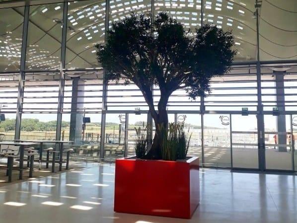 Large tree tub in aluminium Large tree tub STEELAB in aluminium by IMAGE'IN