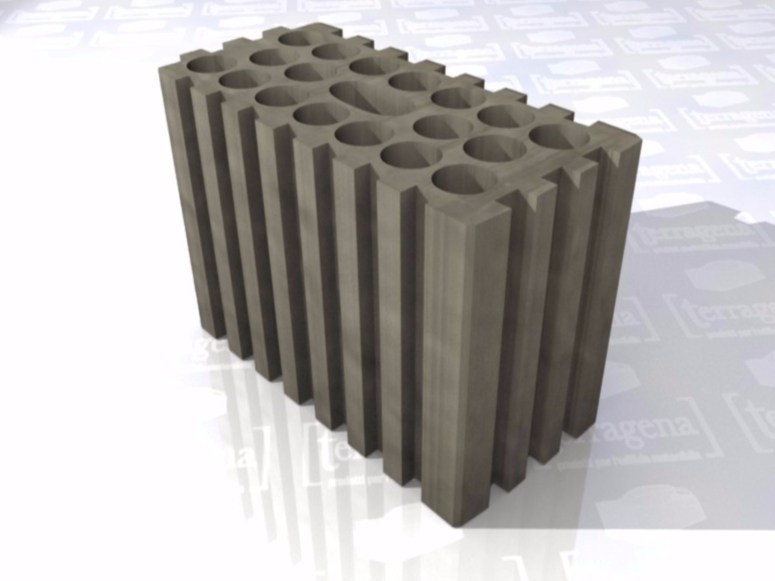 Thermal insulating clay block LaterActive Ligth by Terragena