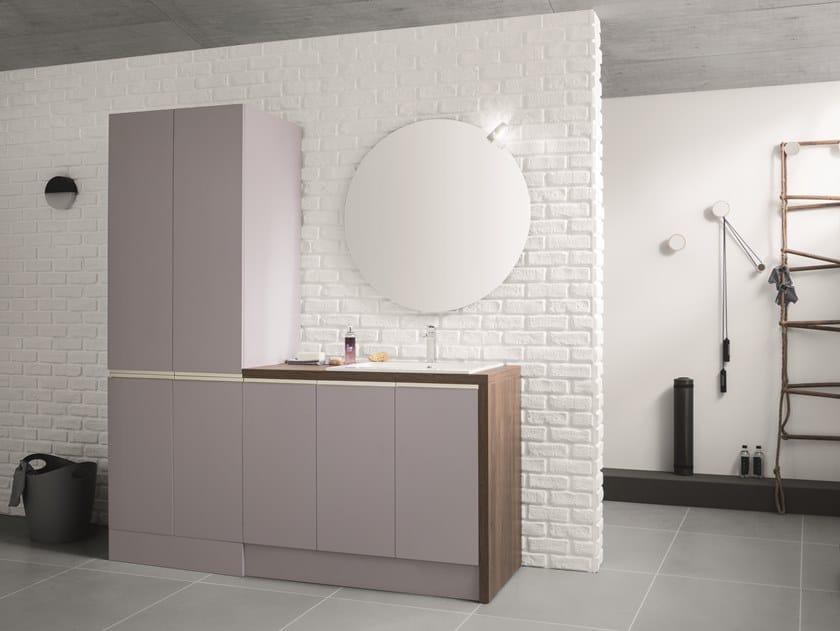 Mobile lavanderia con lavatoio per lavatrice Mobile lavanderia con ante a battente by ARBLU
