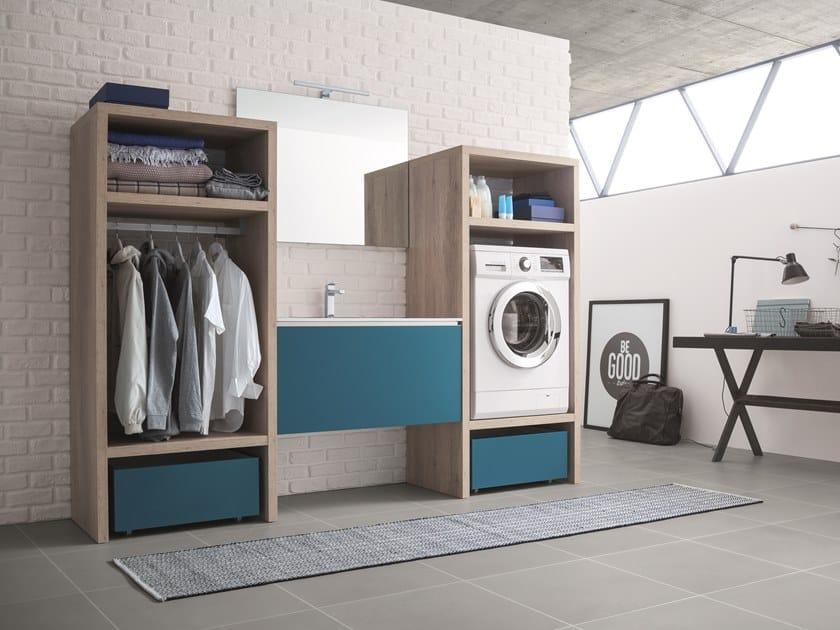 Lavadora Con Lavabo.Mueble Para Lavanderia Con Lavabo Domus