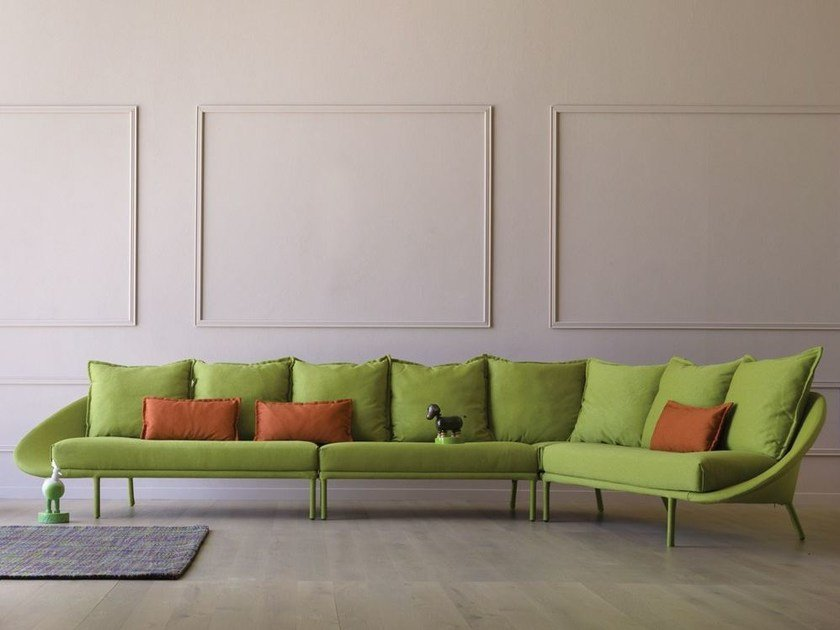 Sectional fabric sofa LEM | Sectional sofa by Miniforms
