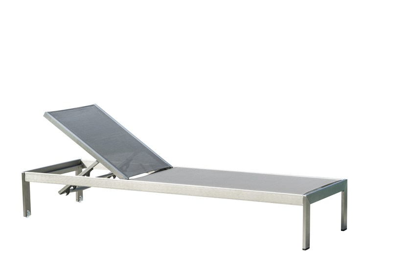 Recliner metal garden daybed with Casters Dafne by Mediterraneo by GPB