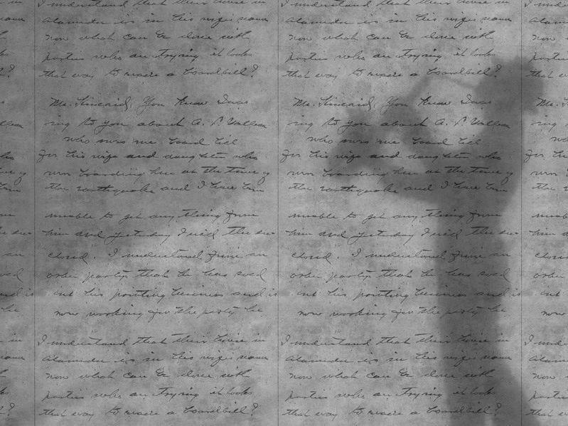 Wallpaper LIGHT CONCRETE LOVELETTER by Mineheart