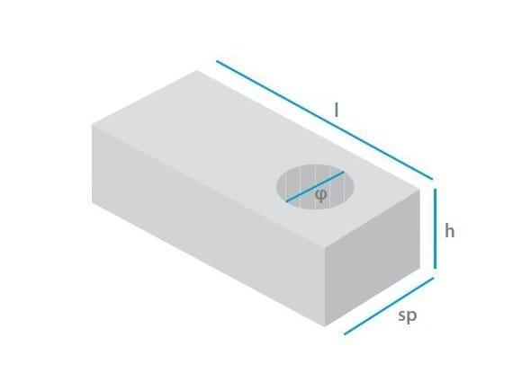 Lightweight concrete block for internal partition Lightweight concrete block by mattONE