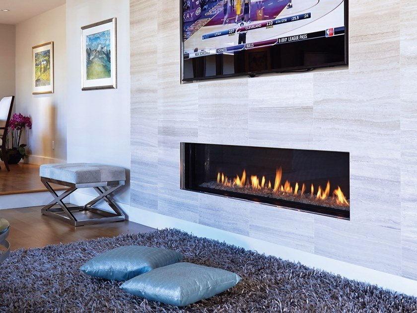 Gas Closed Built In Fireplace Linea 170 By British Fires