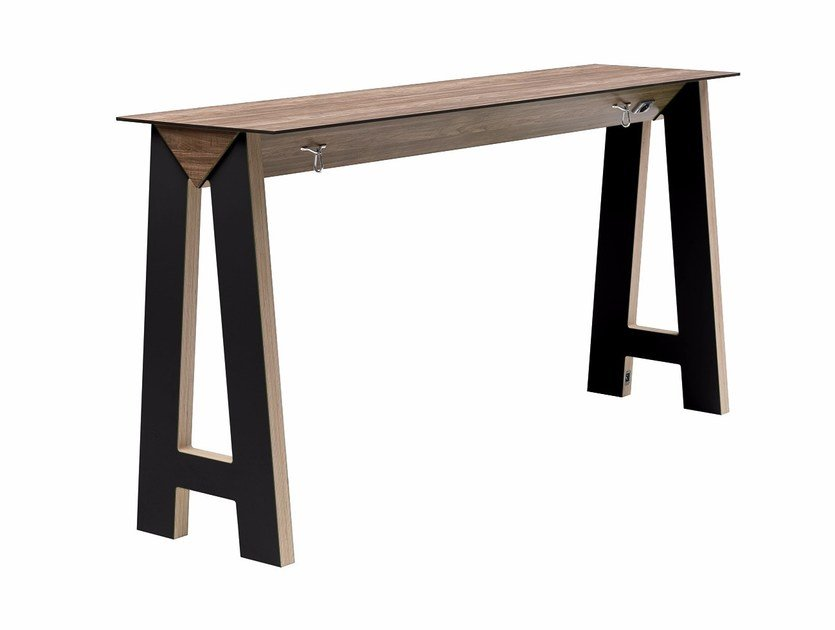 Rectangular high table Link 505 by Metalmobil