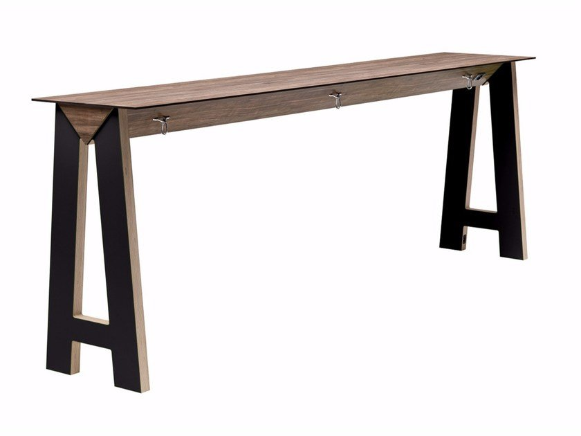 Rectangular high table Link 506 by Metalmobil