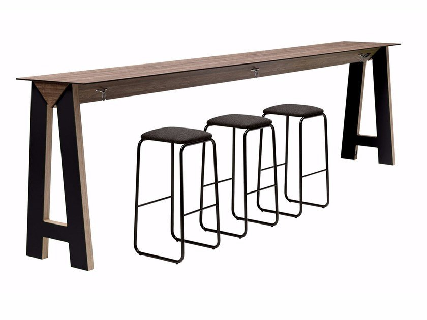 Rectangular high table Link 507 by Metalmobil