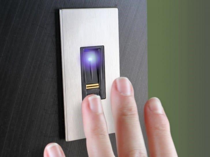 Security door lock Door lock with fingerprint reader by DIERRE