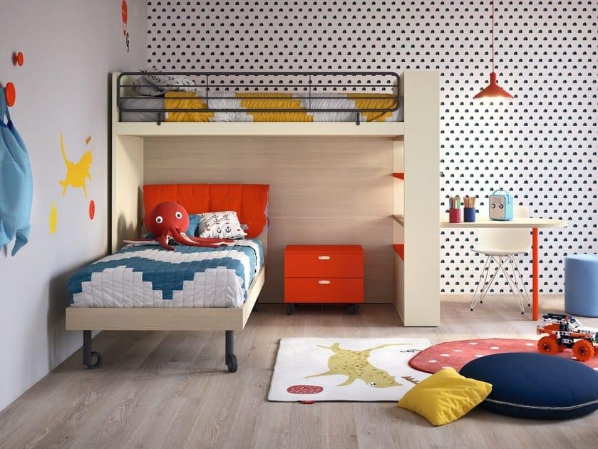 Loft wooden bedroom set Loft bedroom set by Nidi