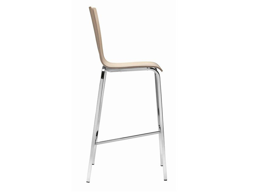 Stool with footrest Luna 334 by Metalmobil