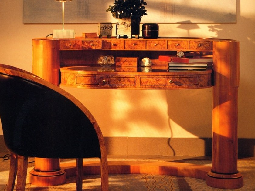 Biedermeier Style briar secretary desk with drawers M 0631 | Secretary desk by Annibale Colombo